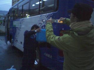山形、岩手、青森、福島などの被災地支援ツアーへのBDFバスへの給油