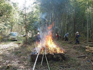 大多喜町での竹林整備