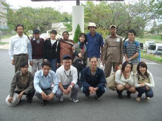 お出かけボランティアと研修生たち(昨年)