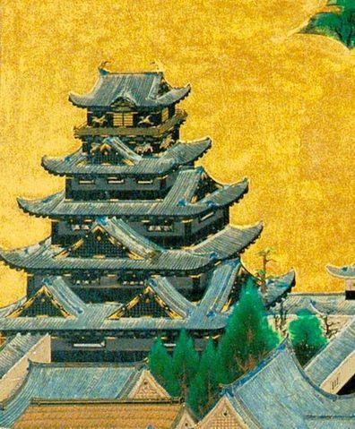 396px-Osaka_Castle_Keep_tower_of_「A_figure_of_camp_screen_of_the_Osaka_summer」.jpg