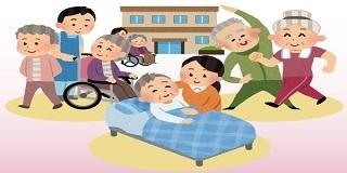 「団地 高齢化 ボランティア イラスト」の画像検索結果
