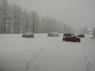 さらべつより 春の雪