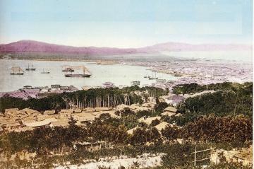 1876年(明治9年)明治丸函館入港-港はこだて