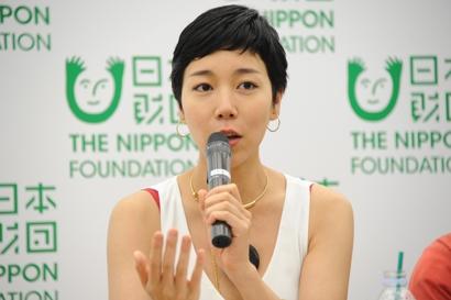 映画監督の安藤桃子さん 映画監督の安藤桃子さん 今回の企画展を通して、福祉分野の人や美術関係者だ