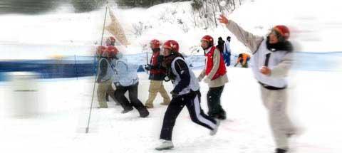 第13回島根県雪合戦大会 試合風景