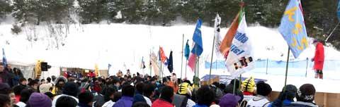 第13回島根県雪合戦大会 開会式