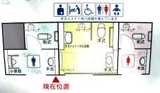 写真:区立豊玉公園のトイレの案内盤