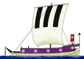 奥州松前藩松前隆之助船印-和船...